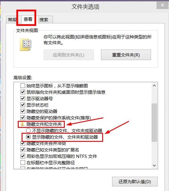 如何将隐藏文件夹显示出来,教您把隐藏的文件显示出来的操作技巧 文章 第2张
