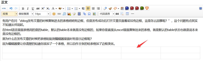 zblog的发表的文章表格为什么没有边框? 文章 第1张